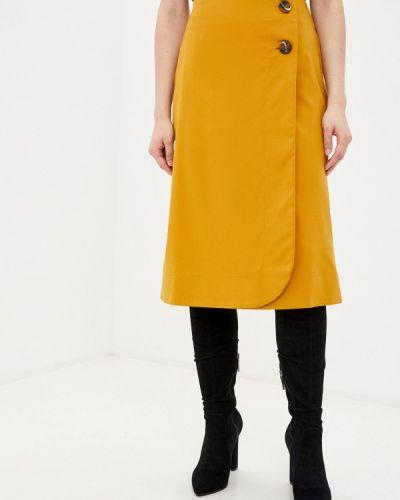 Желтая юбка свободного кроя Remix