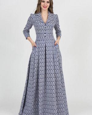 Вечернее платье осеннее синее Olivegrey