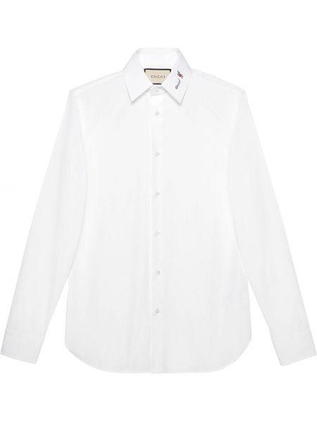Biała koszula bawełniana - biała Gucci