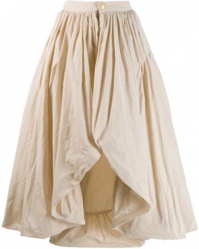 Бежевая юбка макси с поясом Palomo Spain