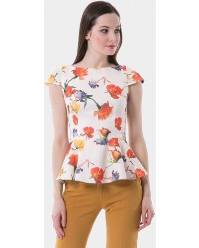 Блузка с коротким рукавом белая весенний Vladi Collection