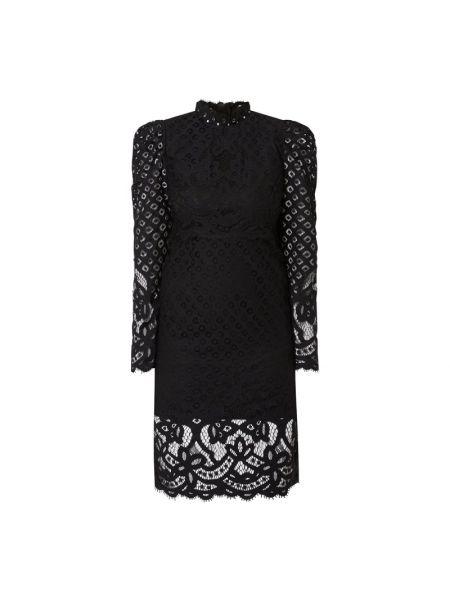 Sukienka z długimi rękawami - czarna Bardot