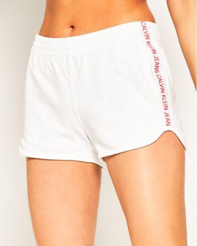Spodenki sportowe - białe Calvin Klein Jeans