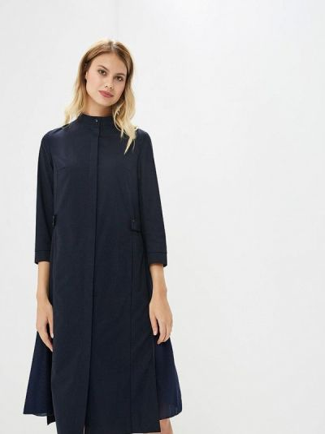 Платье платье-рубашка синее Ruxara
