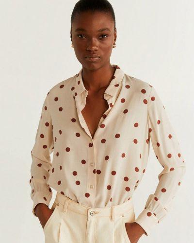 Блузка с длинным рукавом белая Mango
