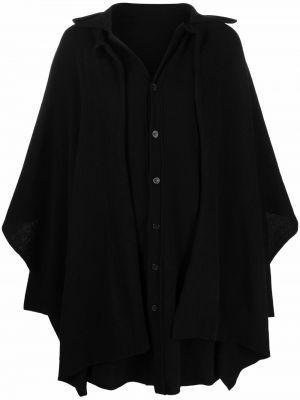 Czarna klasyczna koszula Yohji Yamamoto