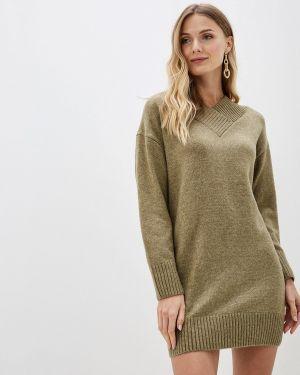 Вязаное платье хаки Sela