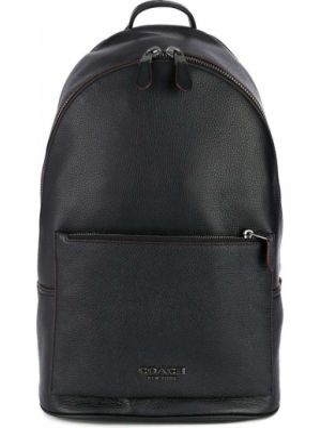 Czarny plecak skórzany Coach