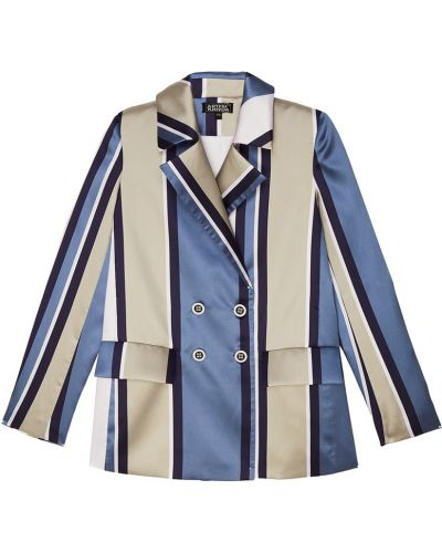 Синий пиджак двубортный с воротником Artem Krivda