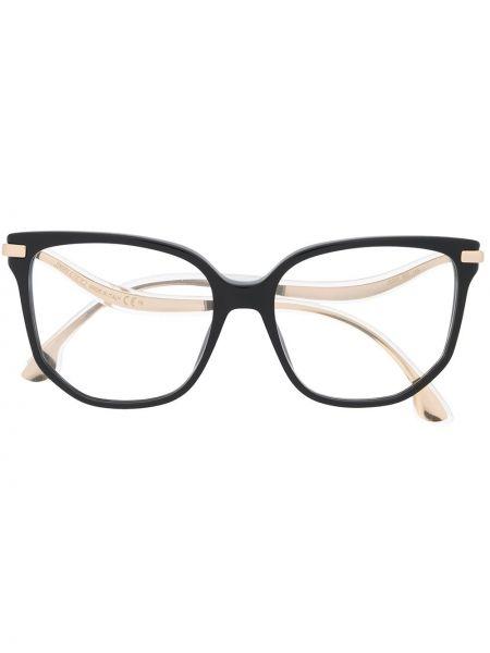 Черные очки металлические Jimmy Choo Eyewear