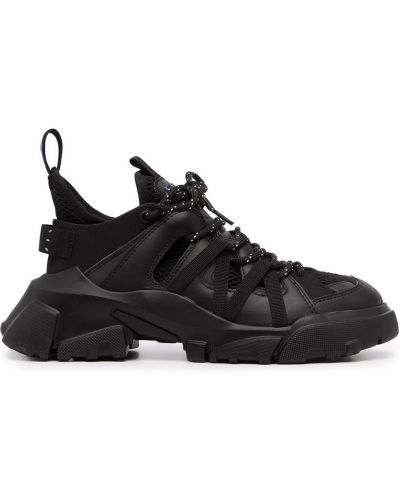 Czarne buty sportowe skorzane Mcq