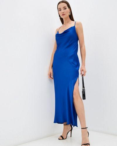 Синее платье осеннее Imocean