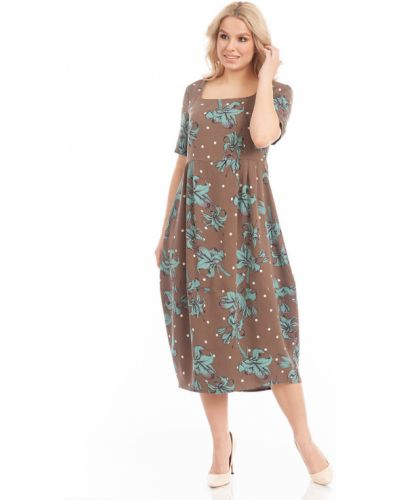 Прямое платье бохо с короткими рукавами Merlis