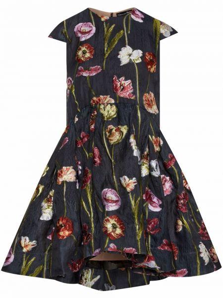 Платье мини с вырезом Oscar De La Renta