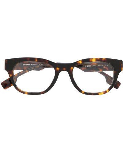 Brązowy oprawka do okularów plac przeoczenie Burberry Eyewear
