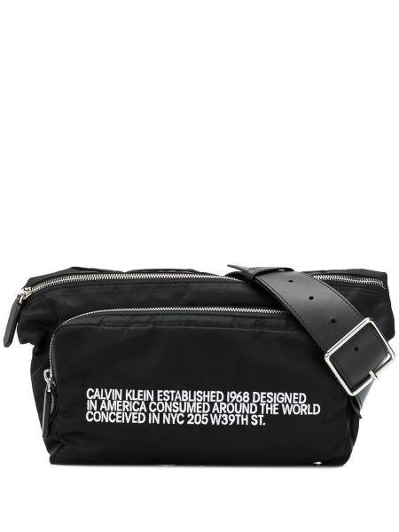 Czarny pasek z paskiem klamry Calvin Klein 205w39nyc