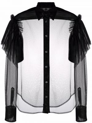 Czarna koszula z długimi rękawami Viktor & Rolf