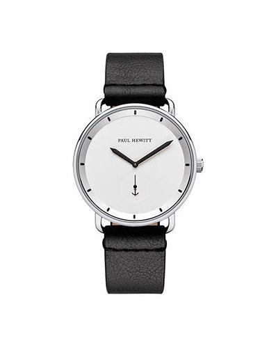 Часы водонепроницаемые с кожаным ремешком белые Paul Hewitt