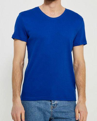 Синяя футболка Mustang
