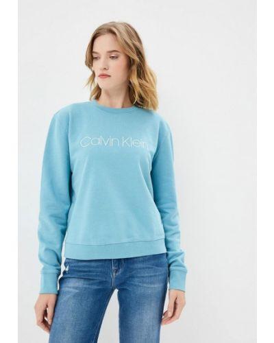 Голубой свитшот Calvin Klein