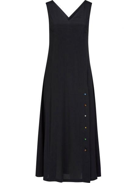 Шелковое платье - черное Frankie Morello