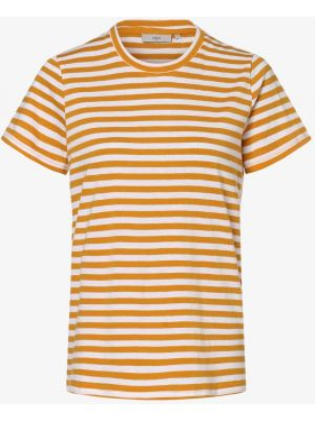 T-shirt w paski - żółta Minimum