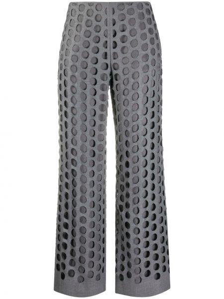 Брючные шерстяные серые брюки с карманами Maison Margiela