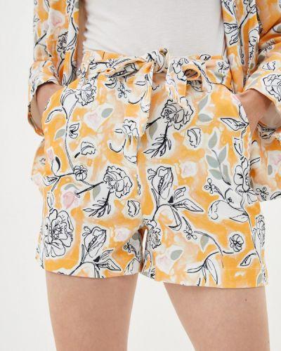 Повседневные желтые шорты Trendyol
