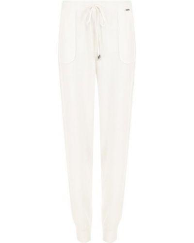 Кашемировые бежевые спортивные брюки с карманами без рукавов St. John