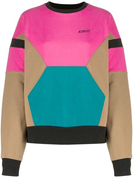 Różowa bluza z długimi rękawami bawełniana Kirin