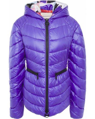 Fioletowa kurtka pikowana Emilio Pucci
