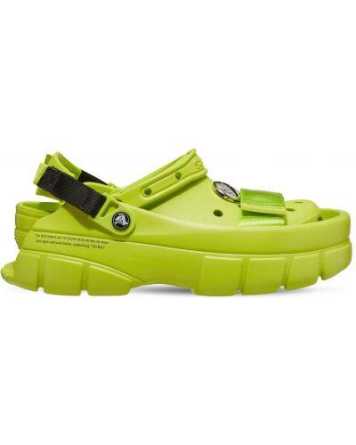 Зеленые сандалии классические Crocs