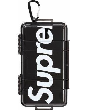 Брелок с логотипом - черный Supreme