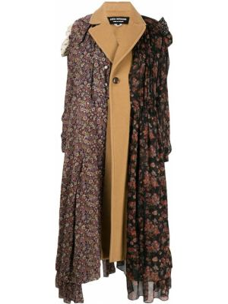Коричневое однобортное шерстяное пальто на пуговицах Junya Watanabe Comme Des Garçons Pre-owned