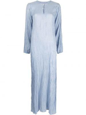 Синее платье миди трапеция с вырезом Bambah