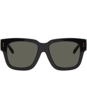 Okulary przeciwsłoneczne żółty czarny Linda Farrow Luxe
