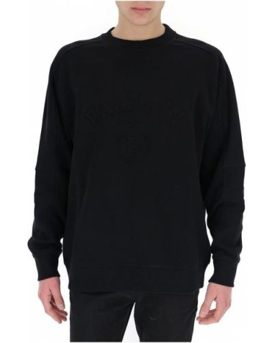 Czarna bluza z długimi rękawami oversize Balmain