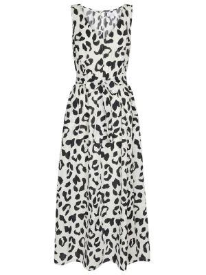 Черное бархатное платье макси с принтом Velvet