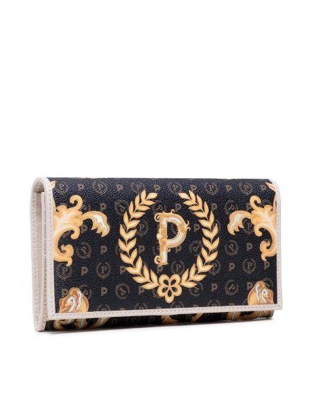 Czarny portfel Pollini