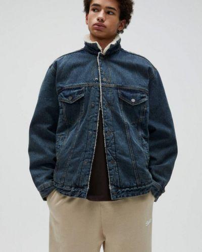 Синяя джинсовая куртка Pull&bear