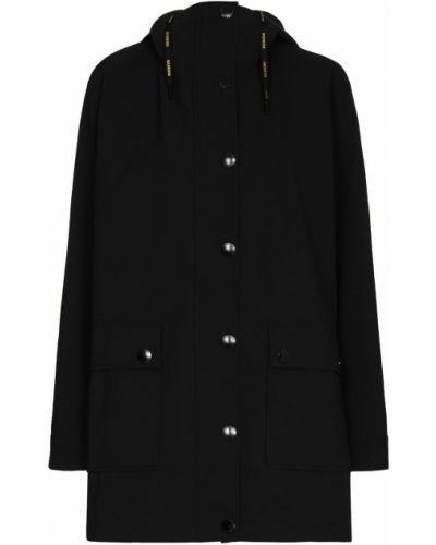 Черная куртка с капюшоном на кнопках Goldbergh