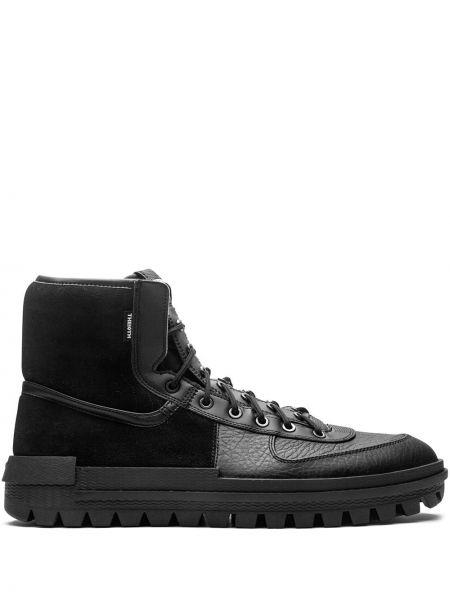Koronkowa czarny top na sznurowadłach Nike