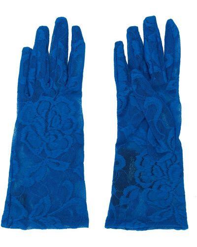 Перчатки - синие Gucci