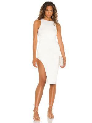Трикотажное белое платье миди с подкладкой Lovers + Friends