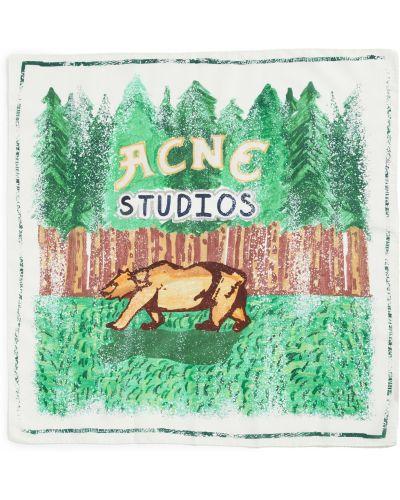 Szalik bawełniany - biały Acne Studios