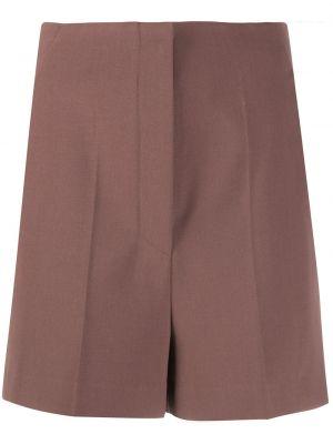 Нейлоновые шорты - коричневые Nanushka