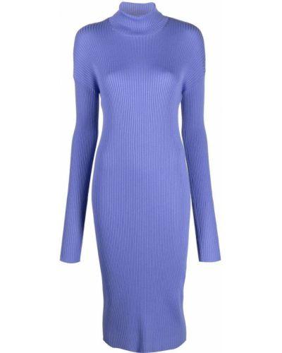 Fioletowa sukienka z długimi rękawami Mrz