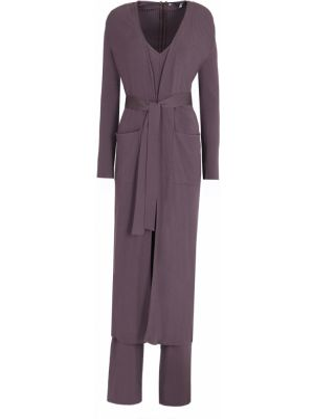 Фиолетовый костюмный костюм свободного кроя с V-образным вырезом Gentryportofino