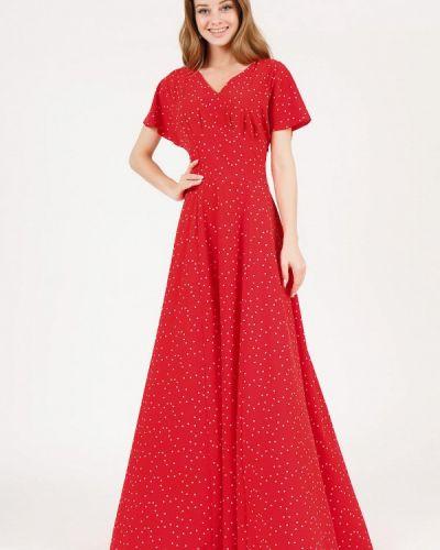 Повседневное платье весеннее красный Marichuell