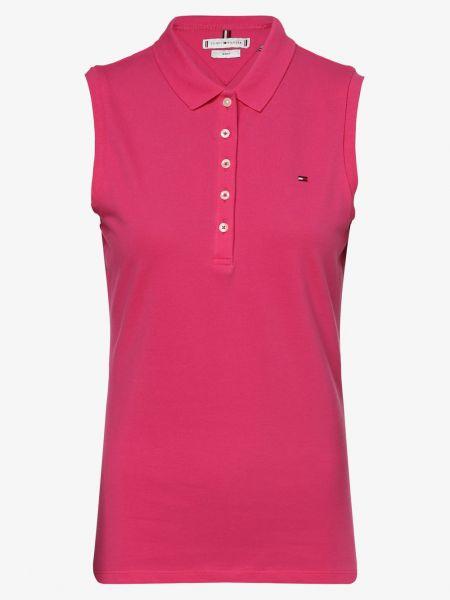 T-shirt bez rękawów - różowa Tommy Hilfiger
